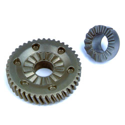 Helix gear&impacted block for impacted power